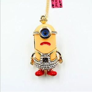 Betsey Johnson Angry Minion Necklace
